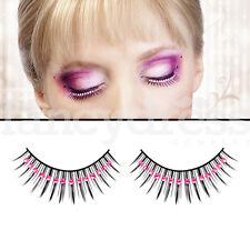 BACI Black Eyelashes with Pink Gems Fancy Dress New Years False Lashes 510