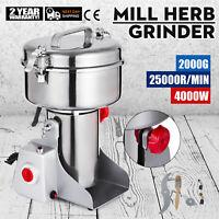 2000g Electric Herb Grain Mill Grinder Swing Type Grains Spice 4000W Powder