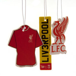 Liverpool FC Club 3Pk Triple Car Air Freshener Freshner LFC EPL Anfield