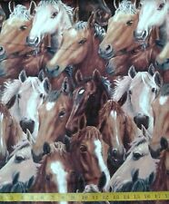 Horse Running Free NEW Fabric Panel - 100% Cotton - Adult/ Kids Novelty