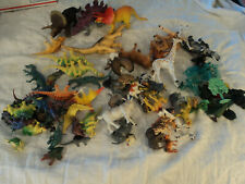 80+ Vg plastic: dinos, farm/ jungle animals, plants Imperial, Schleich, Safari