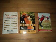3 Lpga Golf Books The Michelle Wie Way & Christina Kim & Leaderboard Amy Alcott