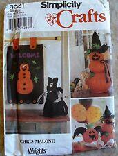 DECORATE ~ HALLOWEEN BAT CAT PUMPKIN BANNER CRAFT Simplicity 9921 Sewing pattern