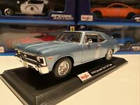 New 1970 Chevrolet Nova SS Coupe Die Cast Maisto Special Edition 1:18 scale Blue
