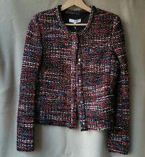 NWT IRO Paris 38 FR 6 US Carene Long Sleeves Boucle Tweed Knit Jacket Red Black