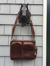 VTG VILLAGE TANNERY BY SEVESTET BROWN LEATHER UNISEX CROSSBODY SHOULDER BAG USA
