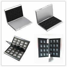 Aluminio Plata tarjeta de Memoria Estuche Caja titulares para tarjeta Micro SD 24TF