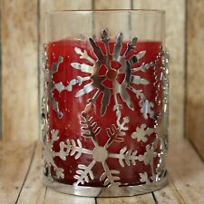 Yankee Candle ® Silver Snowflakes 22 oz Candle Jar Holder Sleeve