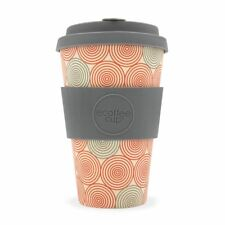 Ecoffee Cup Swirl with Grey Silicone Coffee Cup 400ml