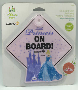 Disney Princess Cinderella Disney Baby Safety 1st Baby on Board Car Window Sign