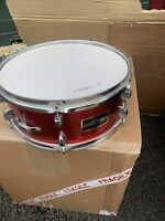 """Free P&P. A 14x5"""" Snare Drum. Red Finish. SD010233"""