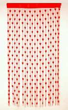 HomeKart's Red Heart Awesome Curtains Pack of 2