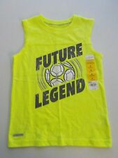 "BOYS SIZE 4 JUMPING BEANS BRAND GREEN ""FUTURE LEGEND"" SOCCER TANK NEW #1154"
