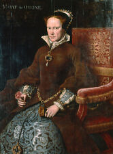 Mary I, Queen of England ANTHONIS MOR Britain Queen Throne B a3 00554