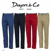 Dwyers & Co 2018 Designer Titanium Chino Flat Front Mens Funky Golf Trousers