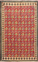 Vintage Geometric Kashmar Oriental Area Rug Wool Hand-Knotted Kitchen Carpet 3x5
