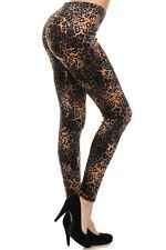 Women's Leggings Cheetah Print Fleece Faux Fur Leggings