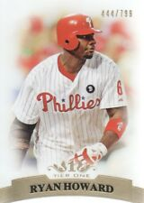 2011 Topps Tier One Baseball #66 Ryan Howard 444/799 Philadelphia Phillies