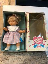 18� Vtg 1980's Talking Pucho's Chylu B.B. Berjusa Baby Doll Spain New In Box