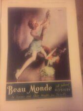Original 1930s Beau Monde Hosiery Vintage Print Ad Australia