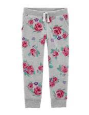 OshKosh Toddler Girls Pull-On Gray Joggers w/ Roses NWT...
