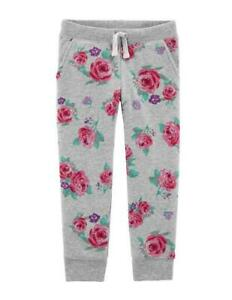 OshKosh Girls' Pull-On Gray Joggers w/ Roses NWT sweatpants pants floral