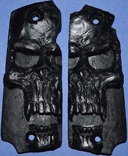 Star Super B Pistol Grips Large Jet Black Skull