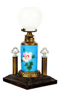 1880s COUNTERTOP VICTORIAN CIGAR LIGHTER BRISTOL GLASS FONT OIL FUEL CIGAR LAMP
