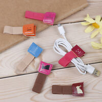 2pcs Headphone usb cable winder wire holder clip wrap cord cute cable organizer