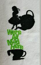 Embroidered Facewasher -Alice in Wonderland ,....