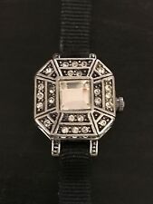 Badgley Mischka Watch Bracelet Swarovski Crystals Feminine Dainty Dress Art Deco