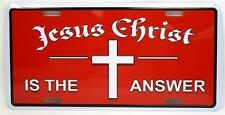 Jesus Christ Is The Answer Religious Car Truck Tag Novelty License Plate Cross