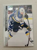 Oskar Sundqvist 2020-21 Upper Deck Series 2 French Variation SP #407 Blues
