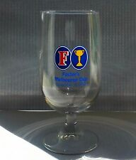 1986 Foster'S Melbourne Cup Commemorative Beer Glass Australia Horse Race Oz Vgc