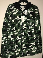 Mens Size XL True Camo green black white Sherpa lined hoodie jacket Athletic Bew