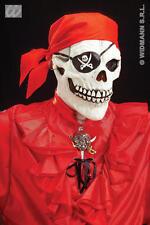 Pirate Skull Mask With Bandana & Earring Zombie Halloween Fancy Dress