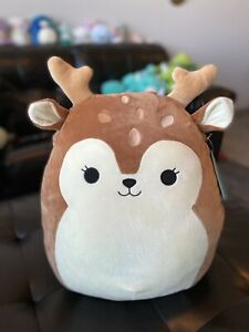 """NEW Kellytoy Squishmallows 16"""" Large Dawn The Fawn Super Soft Plush Toy NWT"""