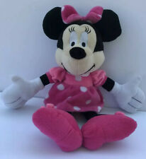 Disney Minnie Mouse Plush 12 inches Pink Dress White Polka Dots Toy Doll