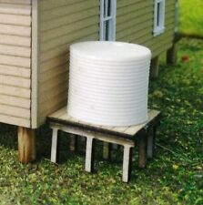 WATER TANK with stand corrugated 15 x 15mm Unpainted Cast Resin & Wood kit T'N'T