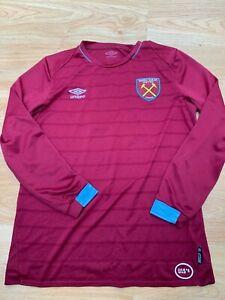 Medium Mens West Ham United Long Sleeved Football Shirt by Umbro U15'S - 99p