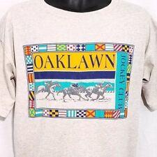 Oaklawn Jockey Club Mens T Shirt Vtg 80s Thorough Bred Racetrack Horse Racing L