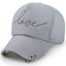 Men Baseball Cap Mesh Snapback Hat Hip-Hop Adjustable Bboy Caps Flat Hat Grey