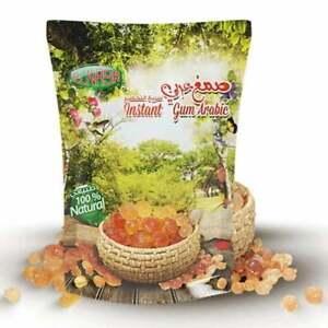 ELNASR 100% Natural Instant Gum Arabic Acacia Powder, (5.3 oz )150 g صمغ عربي X1
