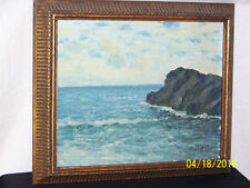 Herbert Foerster Listed New York Artist Original Oil On Artist Panel Seascape