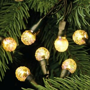 200LED 20.9M Warm White Crackle Berry Solar Christmas Party String Garden Lights