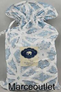John Robshaw Textiles Neel Organic Cotton QUEEN Duvet Cover Blue
