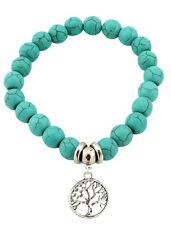 Armband Türkis silber Baum des Lebens Lebensbaum NEU Boho Hippie Shamballa Damen