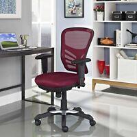 Modern Adjustable Ergonomic Mesh MidBack Computer Desk Office Chair in Red