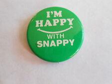 Vintage I'm Happy w/ Snappy Computer Compression Decompression Library Pinback