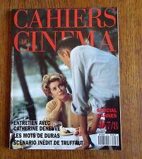 CAHIERS DU CINÉMA N°467/8   mai 93 Deneuve Duras Truffaut  Cannes Faire un film